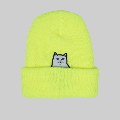 RIP N DIP LORD NERMAL RIB BEANIE SAFETY YELLOW