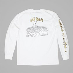RIP N DIP ALL HAIL LONGSLEEVE T SHIRT WHITE