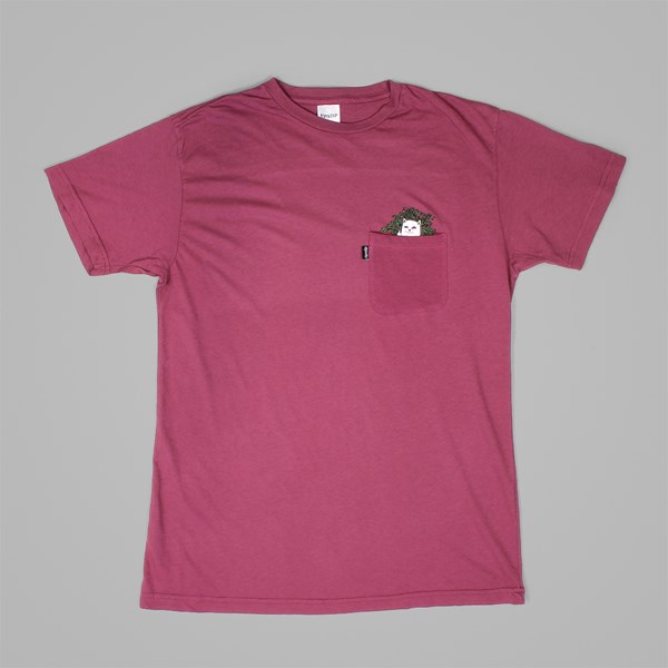 RIP N DIP CAT NIP SS T-SHIRT BURGUNDY