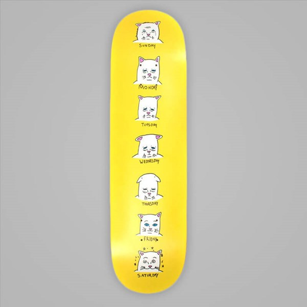 RIP N DIP CATURDAYS TEAM DECK YELLOW 8.25""
