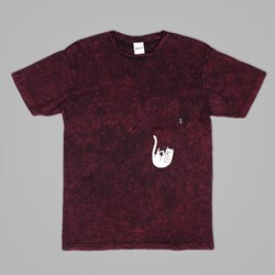 RIP N DIP FALLING FOR NERMAL POCKET TEE BURGUNDY