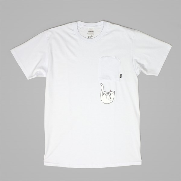 RIP N DIP FALLING FOR NERMAL POCKET TEE WHITE