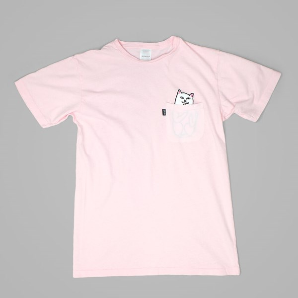 RIP N DIP LORD NERMAL POCKET TEE BABY PINK