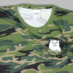 RIP N DIP LORD NERMAL POCKET TEE GREEN CAMO
