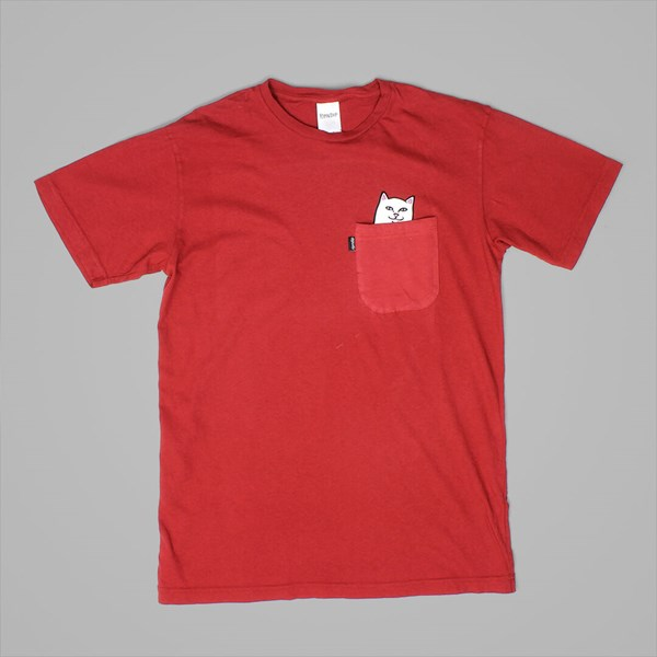 RIP N DIP LORD NERMAL POCKET TEE MAROON