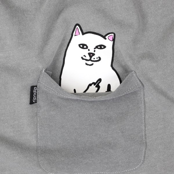RIP N DIP LORD NERMAL POCKET TEE LIGHT GREY