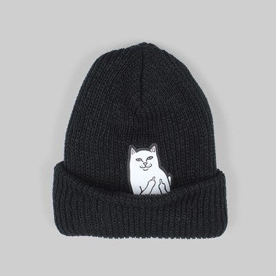RIP N DIP LORD NERMAL RIB BEANIE HAT BLACK