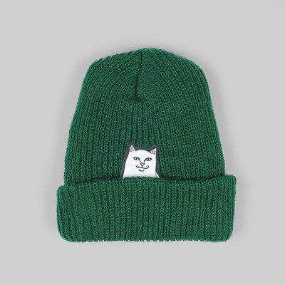 RIP N DIP LORD NERMAL RIB BEANIE HAT HUNTER GREEN