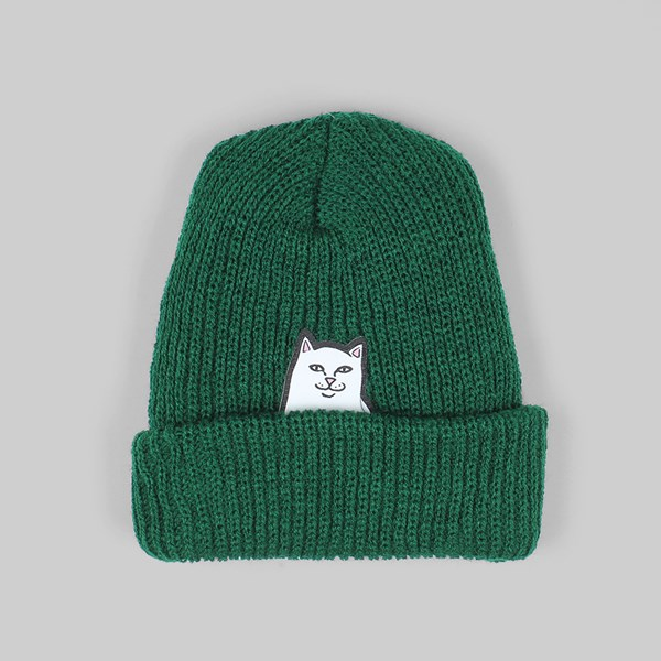 4700480f72385 RIP N DIP LORD NERMAL RIB BEANIE HAT HUNTER GREEN
