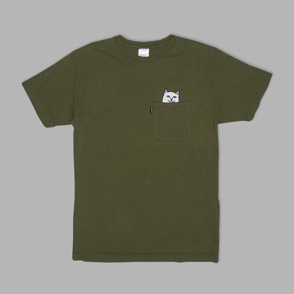 RIP N DIP LORD NERMAL POCKET TEE ARMY GREEN