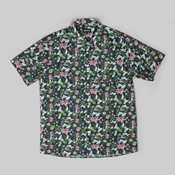 RIP N DIP NERM FLOWER BUTTON UP SHIRT BLACK