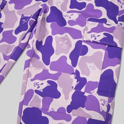 RIP N DIP NERMAL CAMO CARGO PANTS PURPLE CAMO
