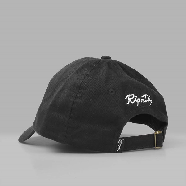 RIP N DIP NERMAL LEAF DAD CAP BLACK