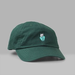 RIP N DIP NERMAL LEAF DAD CAP FOREST GREEN
