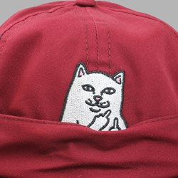 RIP N DIP NERMAL POCKET SIX PANEL CAP MAROON