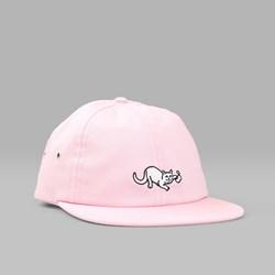 RIP N DIP NERMAL STRINGS SIX PANEL CAP PINK