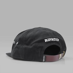 RIP N DIP NERMAL YANG SIX PANEL CAP BLACK