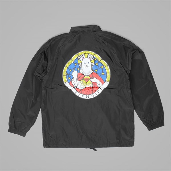 RIP N DIP STAINED GLASS COACH JACKET BLACK