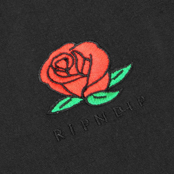RIP N DIP WE BAD ROSE VARSITY JACKET BLACK