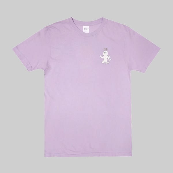 RIP N DIP HALO SS T-SHIRT PURPLE MINERAL WASH