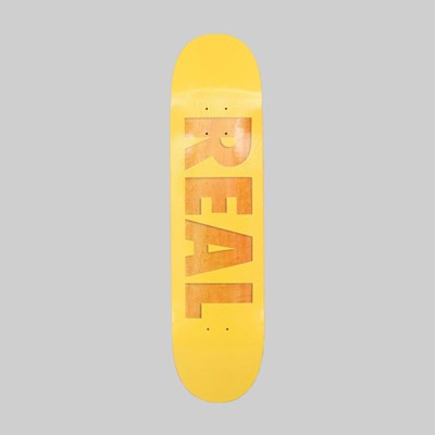 REAL SKATEBOARDS BOLD SERIES YELLOW DECK 8.00