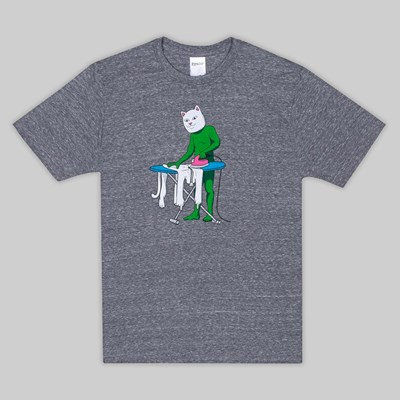 RIP N DIP LAUNDRY DAY SS T-SHIRT ASH HEATHER