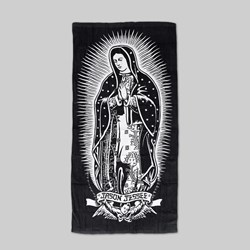 SANTA CRUZ GUADALUPE TOWEL BLACK