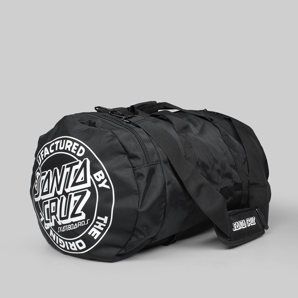 SANTA CRUZ STRIP STACK DUFFLE BAG BLACK