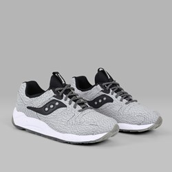 "SAUCONY GRID 9000 ""DIRTY SNOW"" WHITE BLACK"