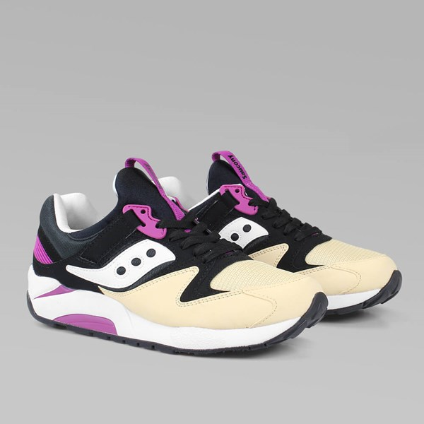 SAUCONY GRID 9000 'PEANUT BUTTER & JELLY' BLACK CREAM
