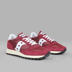 SAUCONY ORIGINAL JAZZ VINTAGE BURGUNDY WHITE