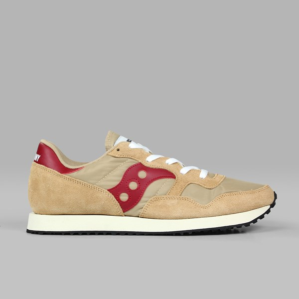 SAUCONY ORIGINALS DXN VINTAGE TAN RED