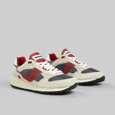 SAUCONY SHADOW 5000 VINTAGE OFF WHITE GREY RED