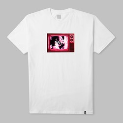 HUF SCRAMBLED TV LOGO T-SHIRT WHITE
