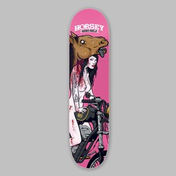 SEND HELP HORSEY 'TOY HORSE' DECK 8.25""