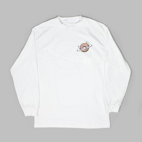 SKATEBOARD CAFE PLANET DONUT LS TEE WHITE