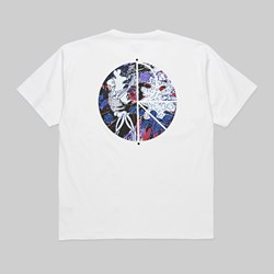 POLAR SKATE CO. SKELETON FILL LOGO TEE WHITE