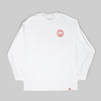 SPITFIRE WHEELS SWIRL LONG SLEEVE TEE WHITE