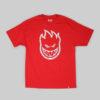 SPITFIRE WHEELS SWIRL SS T-SHIRT RED