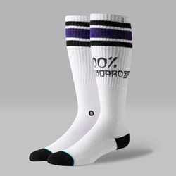 STANCE 100 PERCENT SKATE SOCKS WHITE