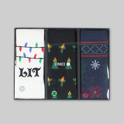 STANCE SOCKS 'TIS THE SEASON' 3 PACK (BOX SET)