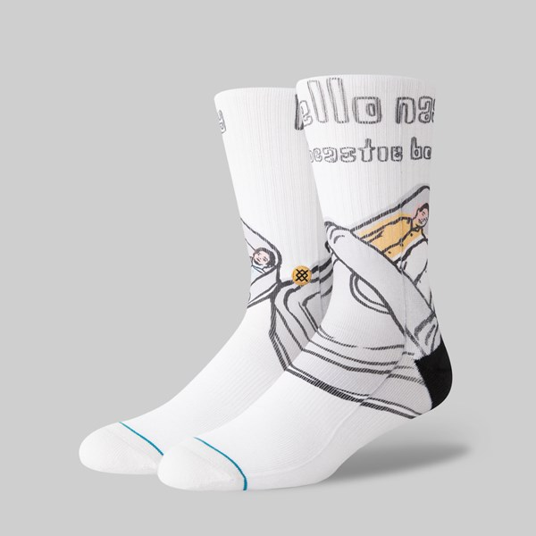 STANCE SOCKS X BEASTIE BOYS 'HELLO NASTY' WHITE