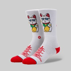 STANCE SOCKS FOUNDATION 'THANK YOU ENJOY' WHITE