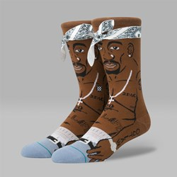 STANCE ANTHEM LEGENDS 'TUPAC' SOCKS BROWN