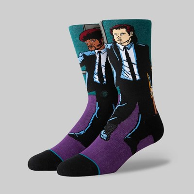 STANCE SOCKS X TARANTINO 'VINCENT & JULES' PURPLE