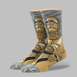 STANCE X STAR WARS THE LAST JEDI 'ANDROID' SOCKS