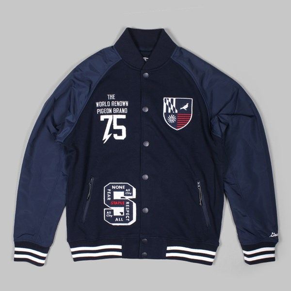 STAPLE  RANGER VARSITY JACKET NAVY