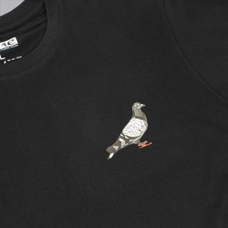 STAPLE PIGEON STAINED GLASS T-SHIRT BLACK