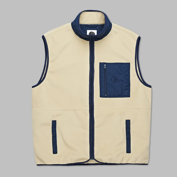 POLAR SKATE CO. STENSTROM FLEECE VEST SAND NAVY