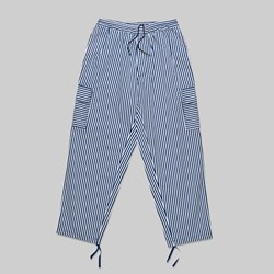 POLAR SKATE CO. STRIPED CARGO PANTS WHITE NAVY